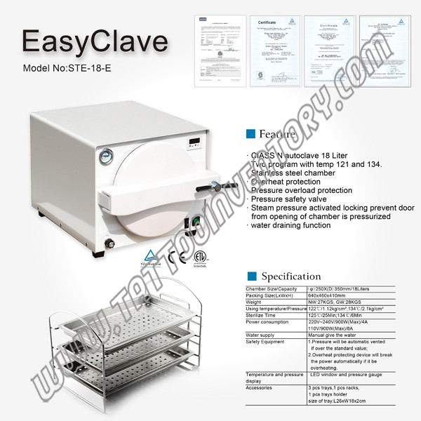 EasyClave for Sterilization - Autoclaves & Ultrasonic